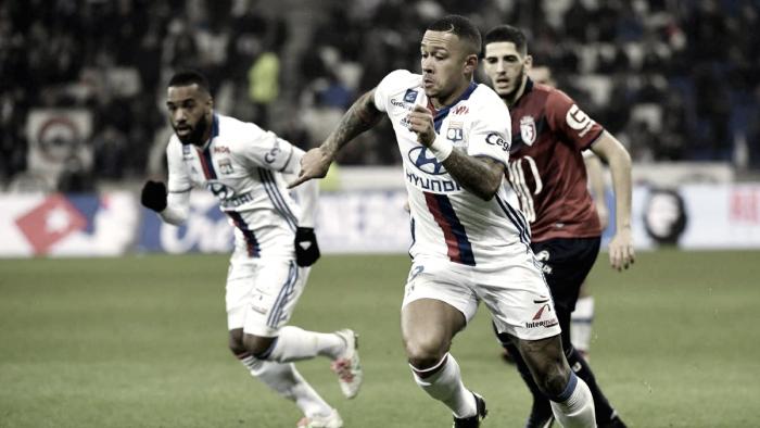 Lille vence 2-1 a un Lyon fuerte, pero superado