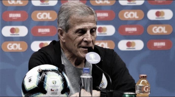 """Óscar Tabárez: """"No enfrentaremos a Chile con la mochila del empate ante Japón"""""""