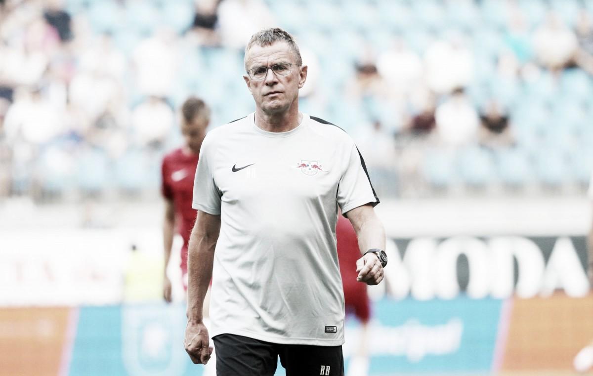 """Ralf Rangnick avalia empate do RB Leipzig na UEL: """"Resultado foi longe de ter sido trágico"""""""