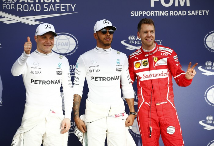 Lewis Hamilton on Australian pole again, but Ferrari keeping Mercedes honest