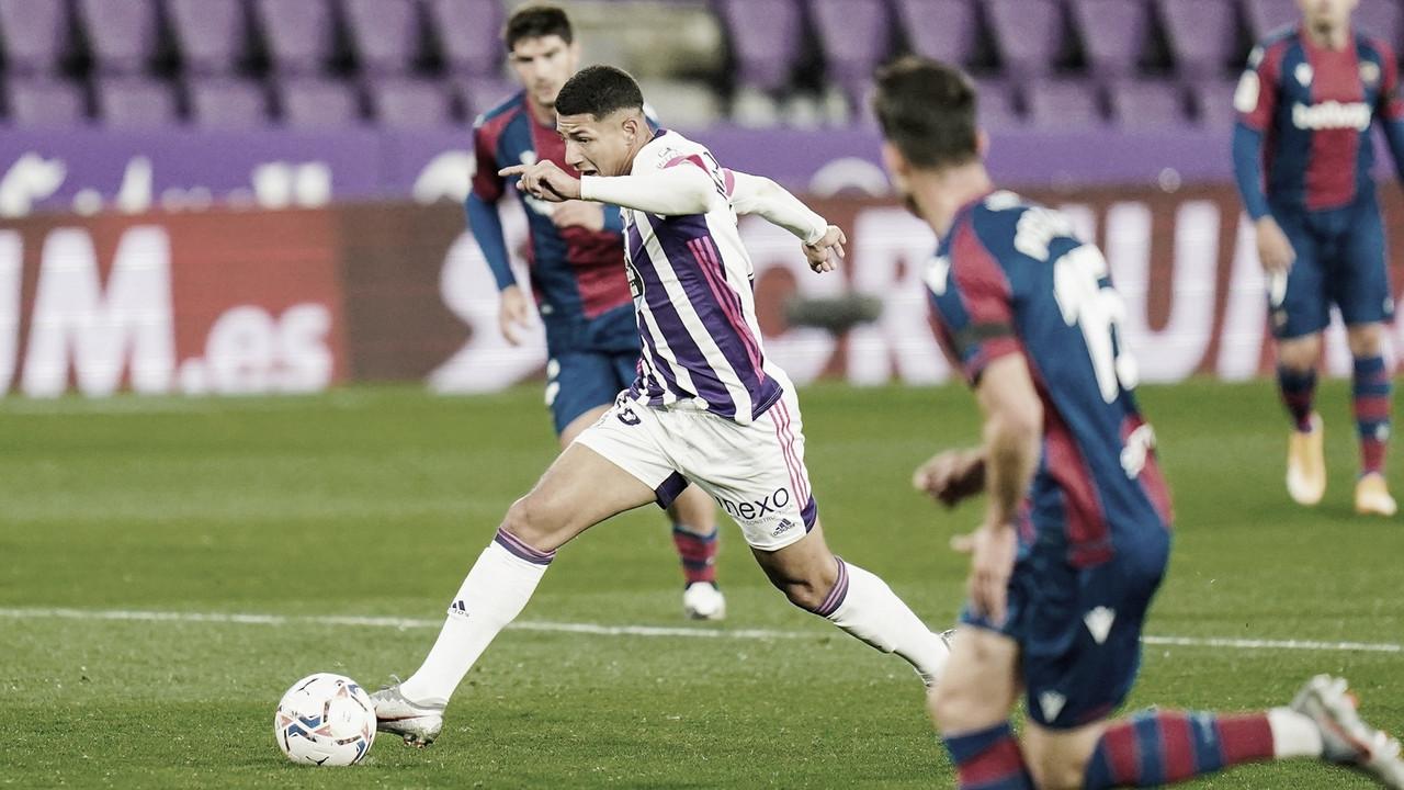 Real Valladolid 1-1 Levante: punto que sabe a poco