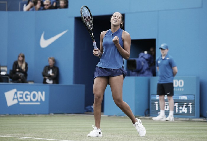 Madison Keys vira contra Suarez Navarro e é finalista do WTA de Birmingham