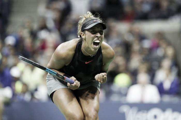 US Open: Madison Keys overcomes Elena Vesnina in late night thriller