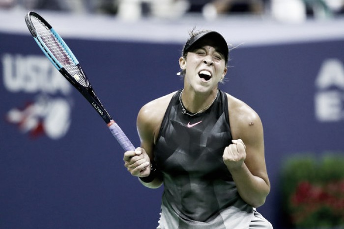 US Open: Madison Keys powers to victory over Elise Mertens