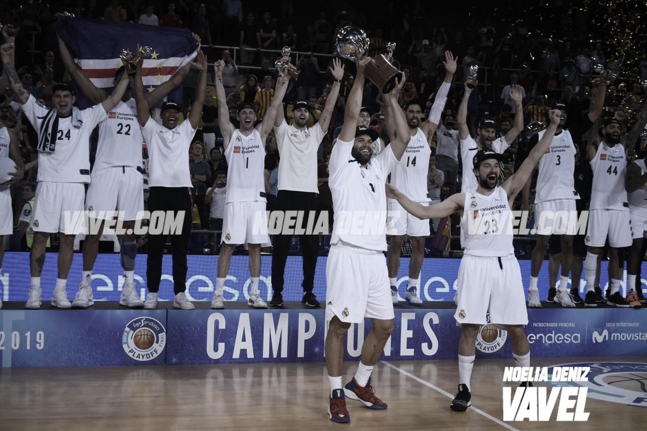 El Real Madrid se proclama campeón de la ACB 2018-19 en el Palau Blaugrana