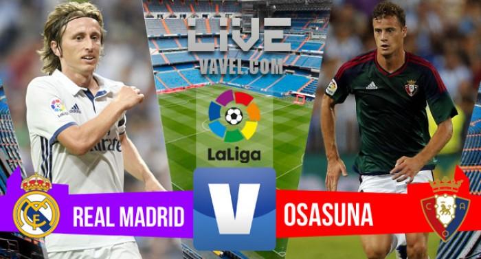 Resultado Real Madrid vence o Osasuna em La Liga 2016 (5-2)