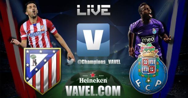 Atlético Madrid x Porto, directo