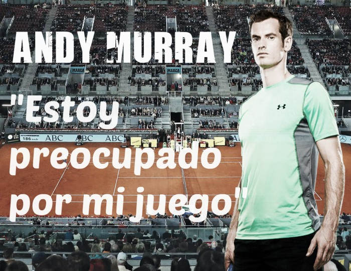 Andy Murray habló de su mal momento