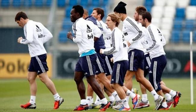 Vuelta a los entrenamientos del Real Madrid para preparar el partido ante el Dortmund
