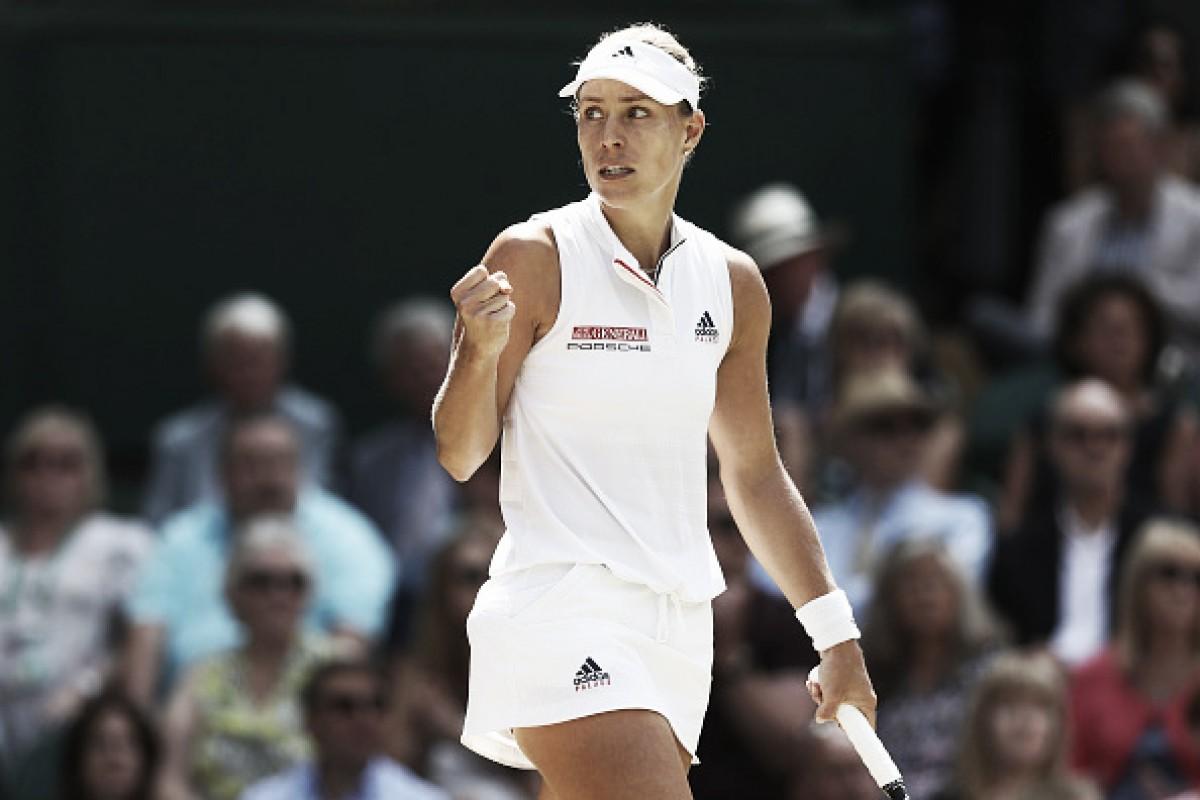 Kerber domina Ostapenko e volta à final de Wimbledon após dois anos