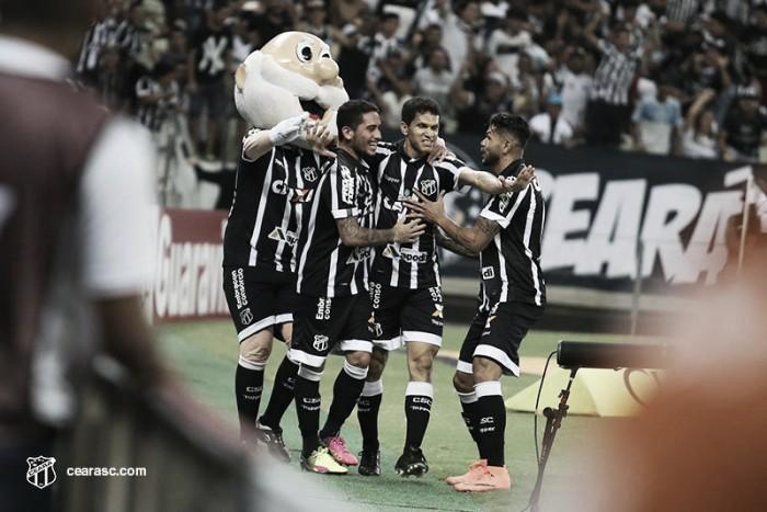 Magno Alves volta a marcar após quase seis meses e Ceará vence Vila Nova para entrar no G-4