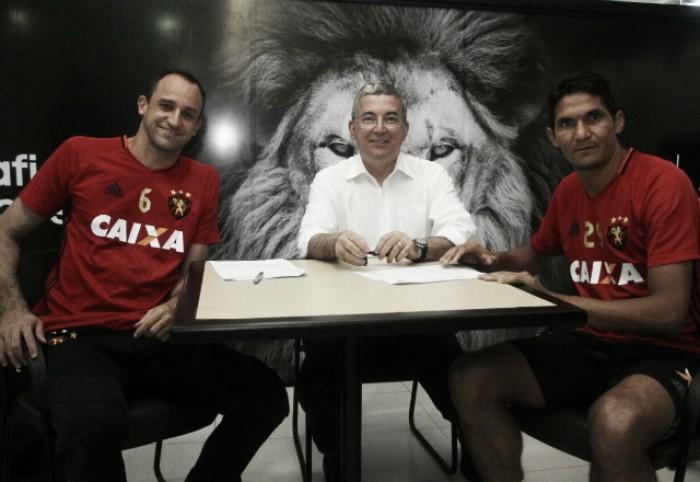 Sport oficializa renovação de Magrão e Durval e ídolos seguem no clube até o fim de 2017