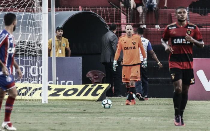 """Mais experiente do Sport, Magrão exalta empenho para evitar queda: """"Ambiente é de esperança"""""""