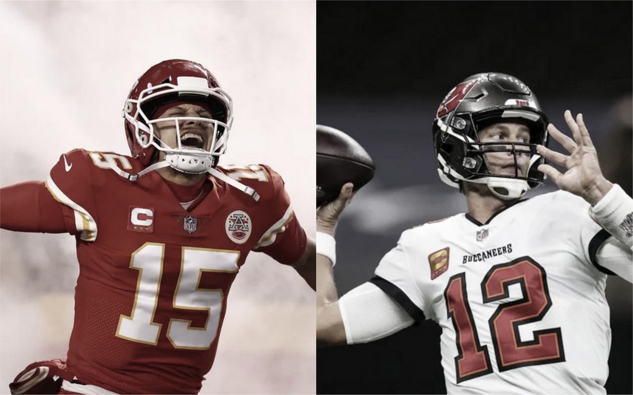 Patrick Mahomes x Tom Brady: números dos quarterbacks finalistas em 2020