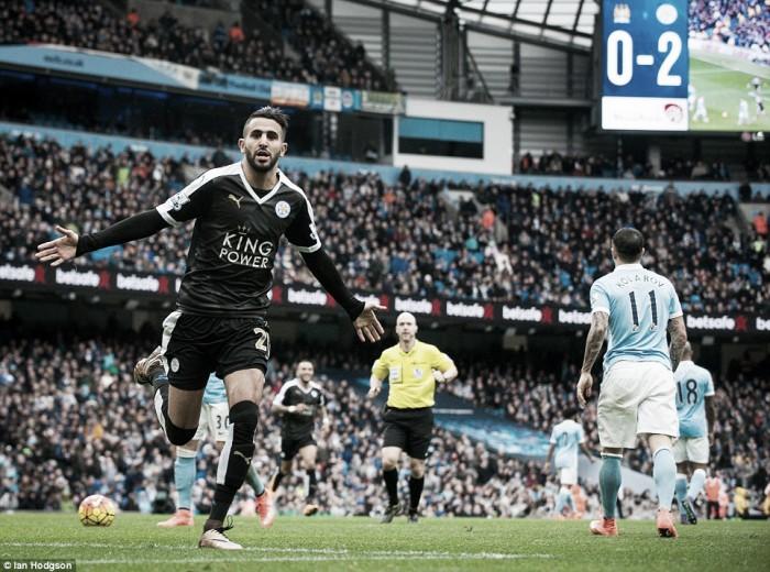 Riyad Mahrez, MVP de la jornada 25 de la Premier League