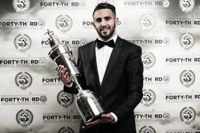 Riyad Mahrez claims PFA Player of the Year award