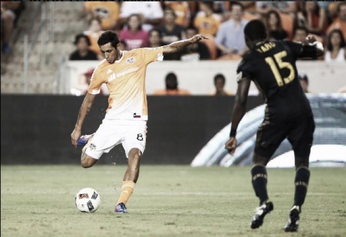 Cristian Maidana's late free kick leads Houston Dynamo to victory Philadelphia Union, 1-0
