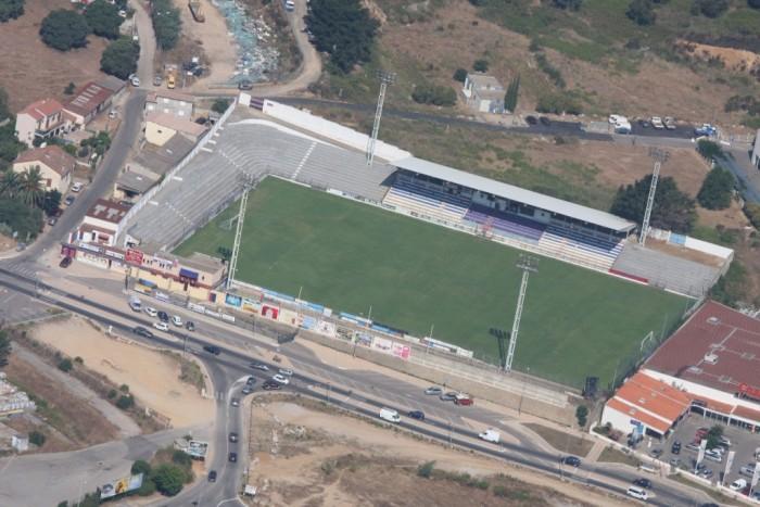 Le stade Ange Casanova du Gazélec d'Ajaccio