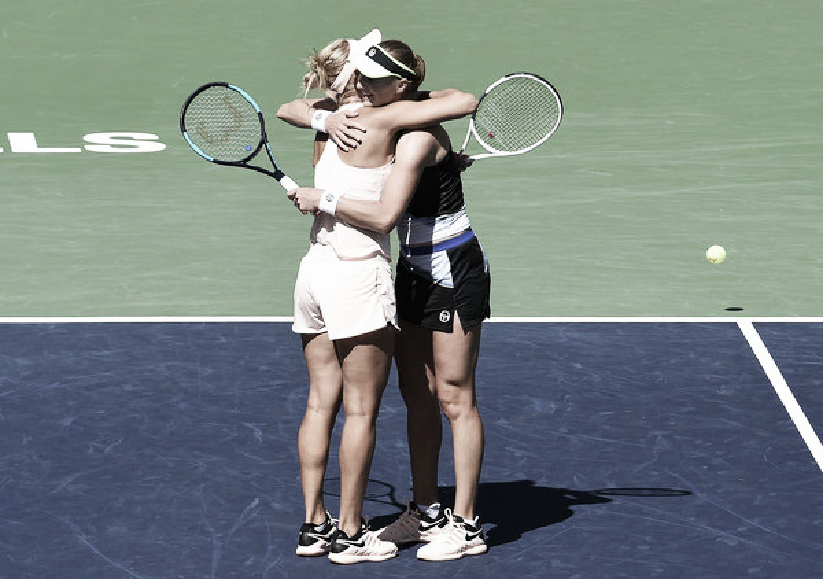 WTA Indian Wells: Ekaterina Makarova and Elena Vesnina produces flawless display, ousts Timea Babos and Kristina Mladenovic