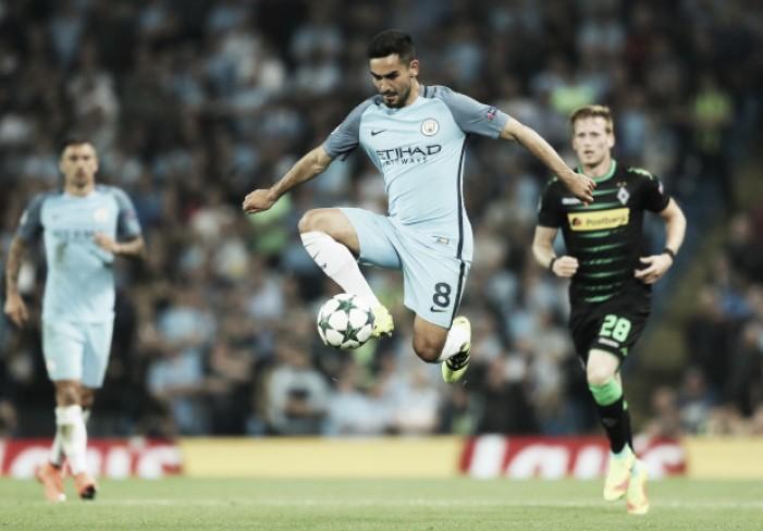 Borussia M'gladbach e Man City medem forças em 'jogo de seis pontos' pelo Grupo C