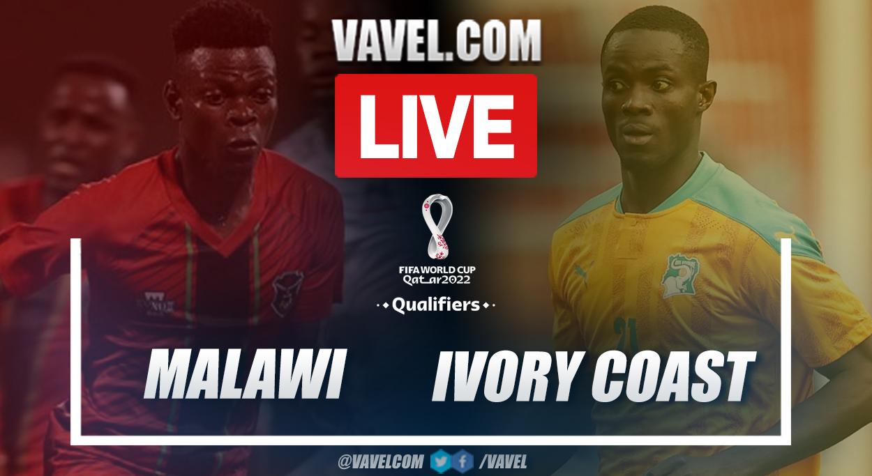 Temps forts et objectifs : Malawi 0-3 Côte d'Ivoire lors des éliminatoires de la Coupe du monde 2022 au Qatar |  10/08/2021