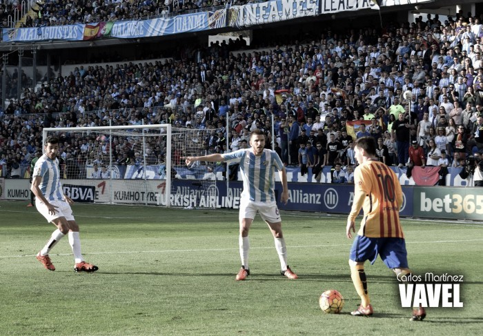 Málaga CF - FC Barcelona: puntuaciones Málaga CF, jornada 21 Liga BBVA