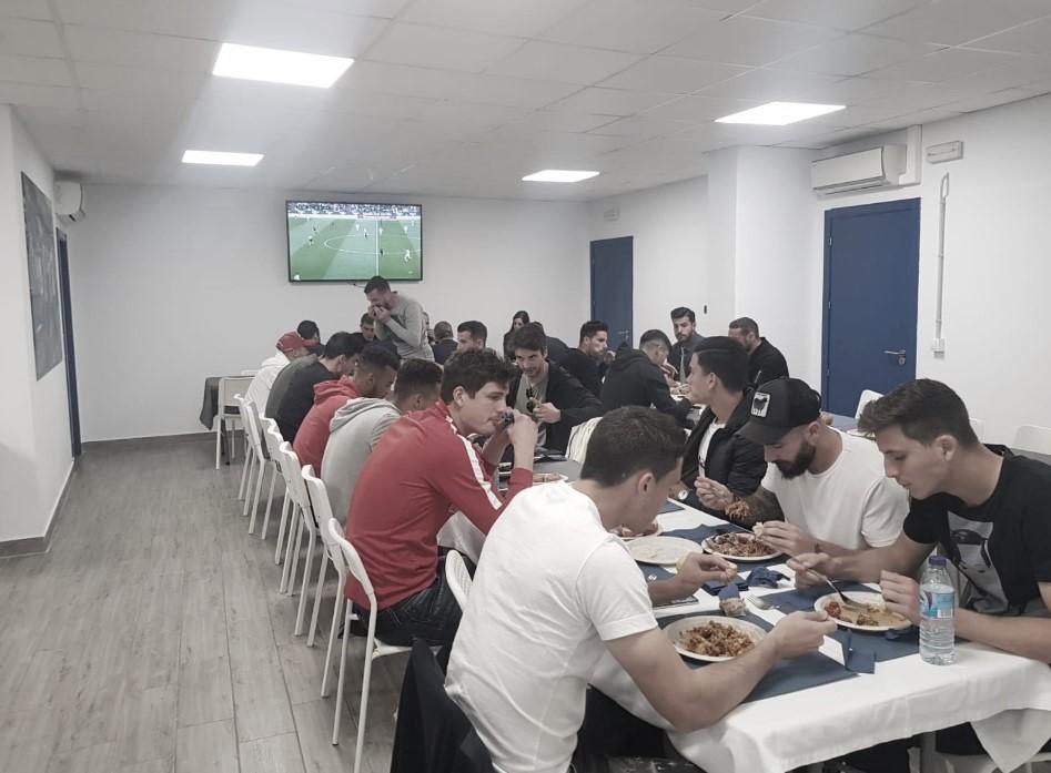 Comida para hacer equipo del Málaga