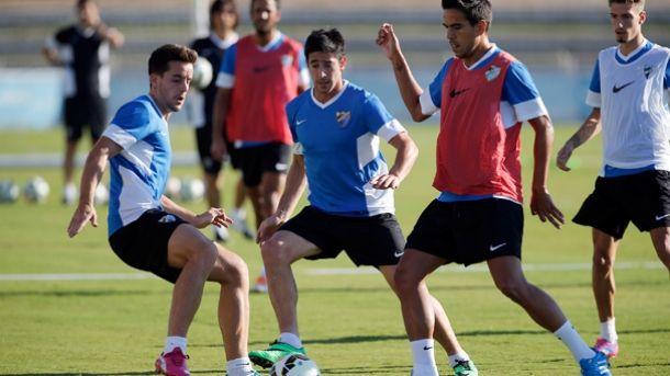 El Málaga comienza la semana con doble sesión