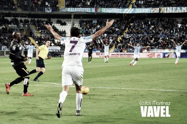 Un empate que deja al Málaga a las puertas de la salvación