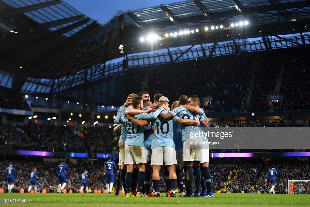 Manchester City 6-0 Chelsea:  Another Aguero hat-trick returns Citizens to the Premier League summit as the champions embarrass shambolic Blues