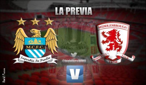 Manchester City - Middlesbrough: el ansia de triunfo contra la ilusión de sorprender