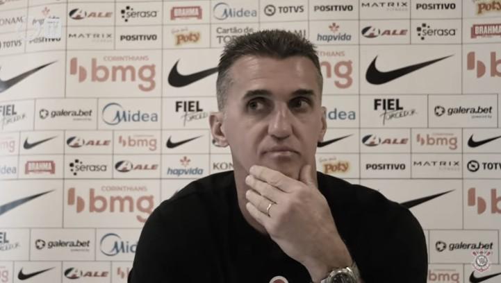 Vagner Mancini após Palmeiras 4 a 0 Corinthians (Corinthians TV / Reprodução)
