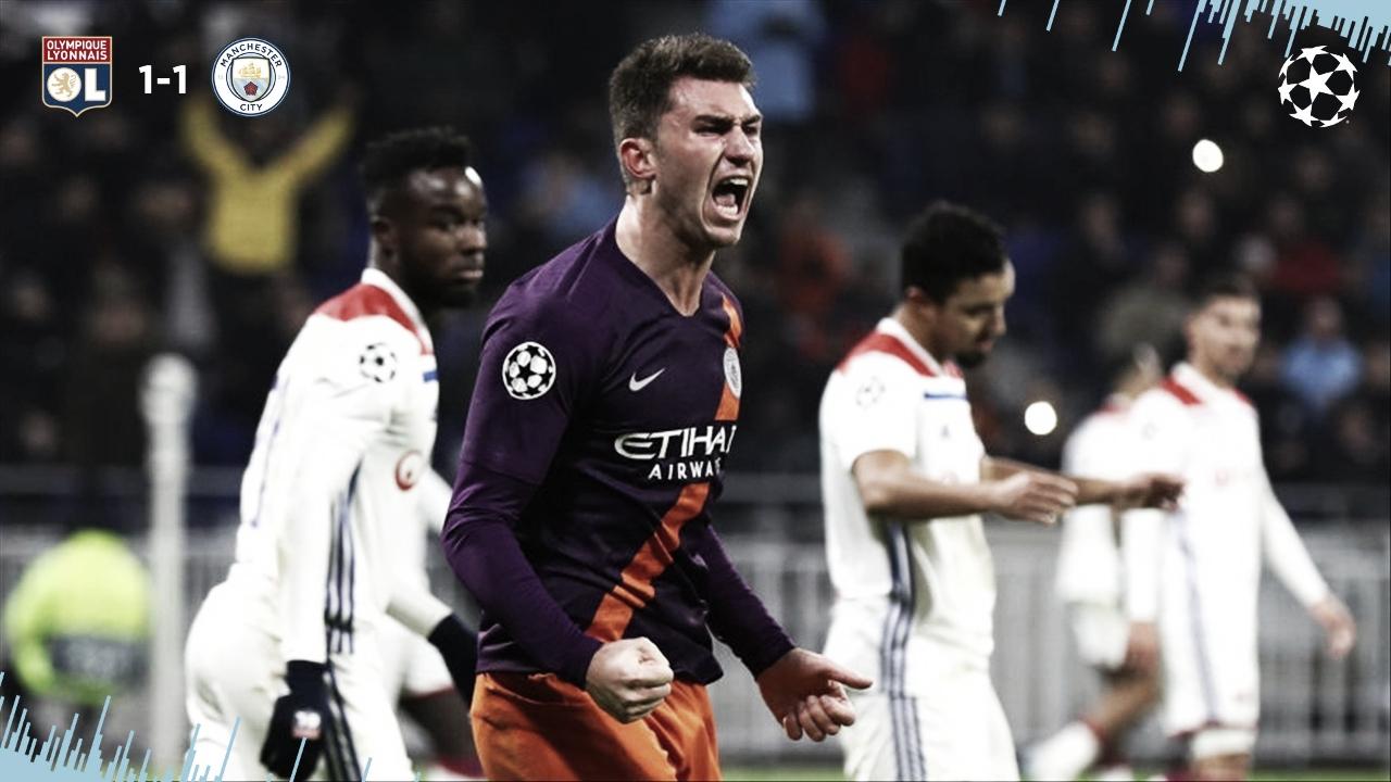 Manchester City arranca empate com Lyon e se classifica para próxima fase da UCL