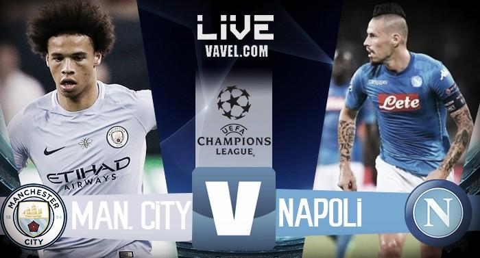 Manchester City - Napoli in diretta, LIVE Champions League 2017/18 (2-1): La riapre Diawara!