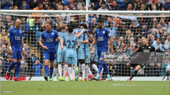 Manchester City 2-1 Leicester City: Citizens halt Foxes' fight-back to strengthen Champions League pursuit