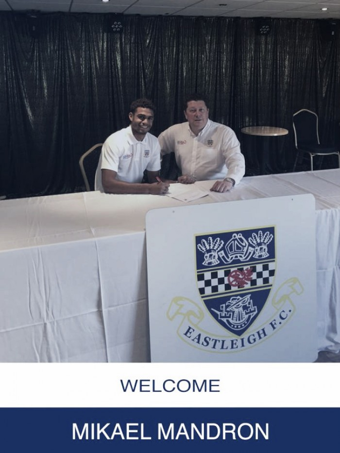 Mikael Mandron signs for Eastleigh