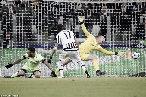 Juventus 1-0 Manchester City: Mandzukic nets as City lose group lead