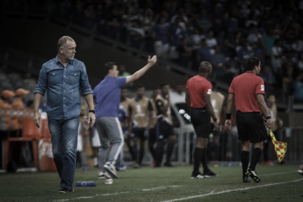 """Mano Menezes avalia derrota do Cruzeiro:""""Tivemos dificuldades para criar"""""""