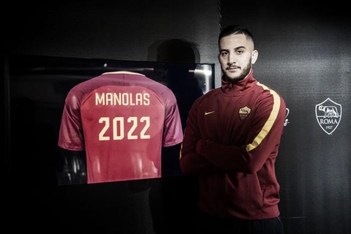 Antigo alvo do Chelsea, zagueiro Manolas estende contrato com a Roma