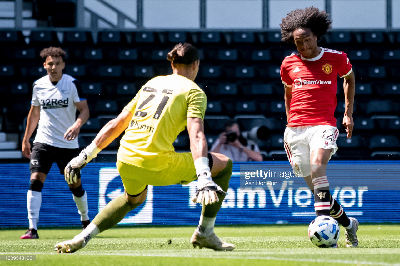 Derby County 1-2 Manchester United: Chong and Pellestri goals allow United to see off Derby