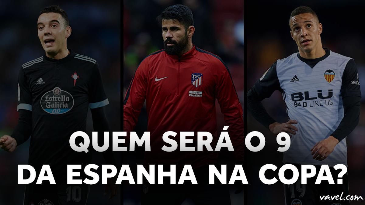 Iago Aspas, Diego Costa e Rodrigo Moreno: quem será o '9' da Espanha na Copa do Mundo?