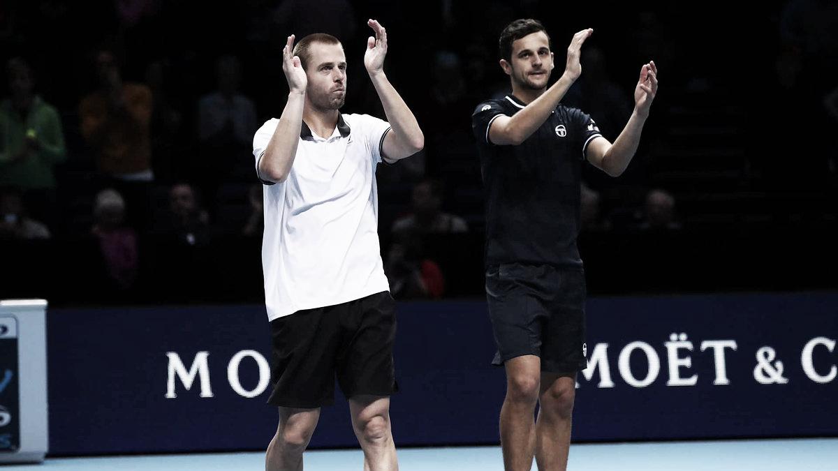 Melhor dupla do ano, Marach/Pavic derrotam Herbert/Mahut na primeira rodada do Finals