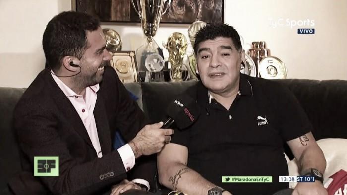 """Maradona: """"Tevez hizo bien en irse"""""""