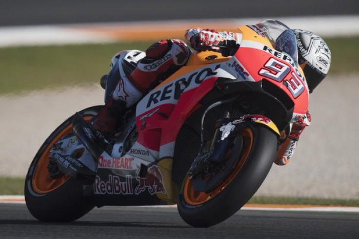 MotoGP, Valencia - Marquez al comando nelle FP3