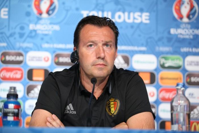 Euro 2016 - Belgio, Wilmots e Witsel prima del confronto con l'Ungheria