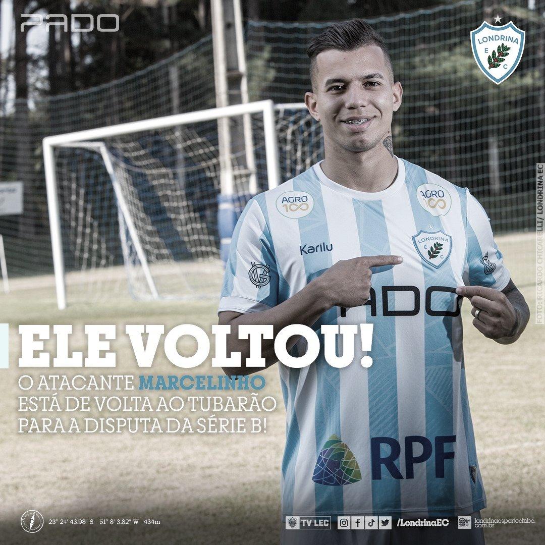 Marcelinho comemora retorno ao Londrina e mira sequência positiva para subir na tabela da Série B