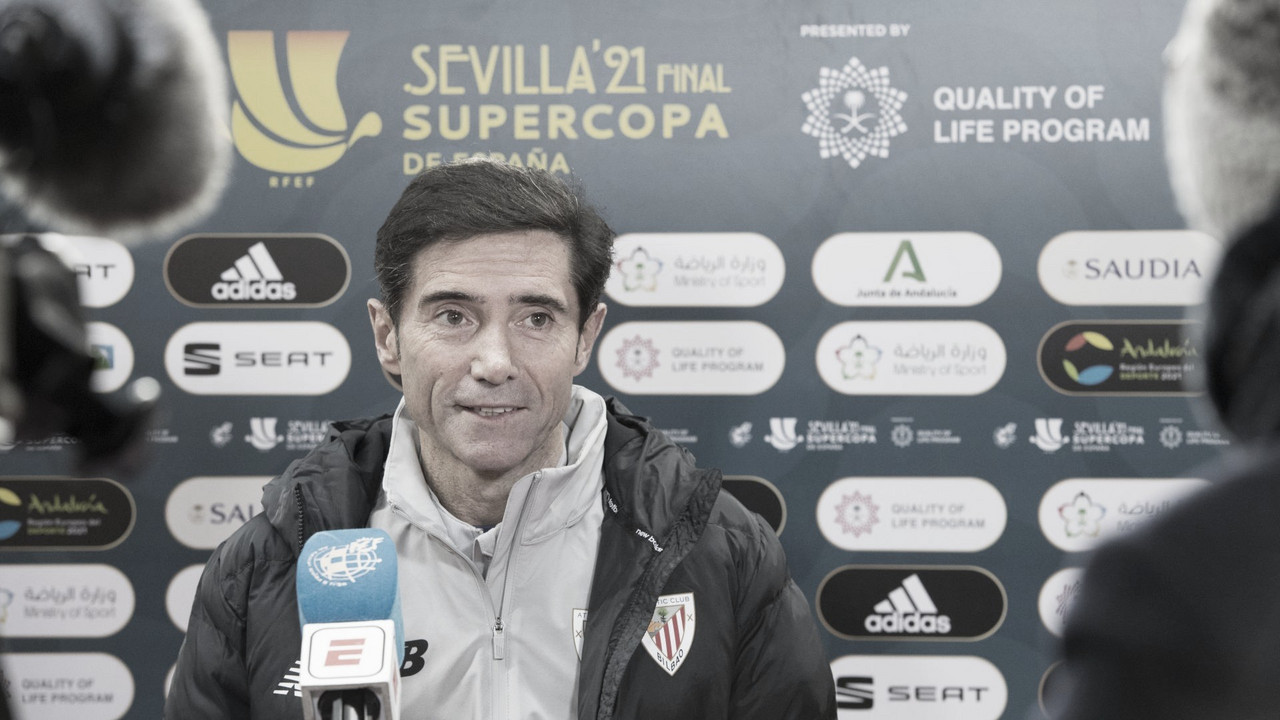 Es la segunda final que Marcelino le gana al Barça. // Foto: Athletic Club