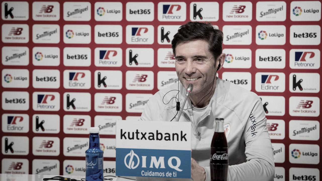 "Marcelino: ""Nos centramos en ganar mañana"""