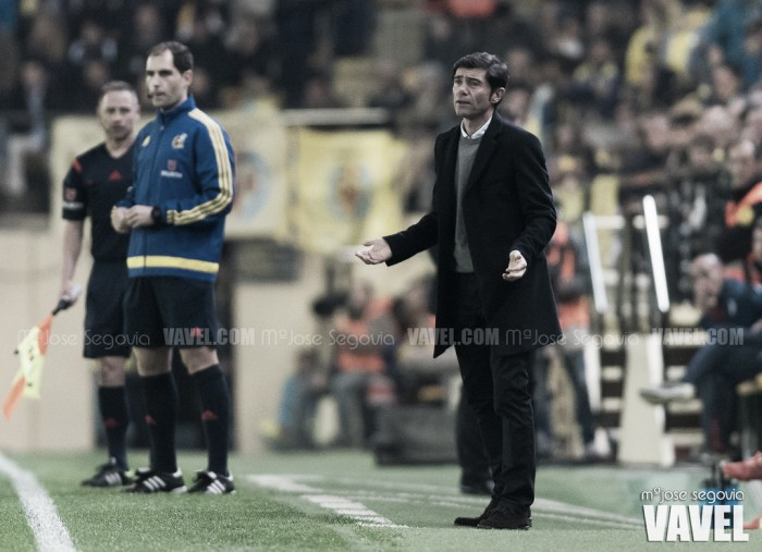 """Marcelino: """"Lo justo para estos futbolistas sería ver El Madrigal lleno"""""""