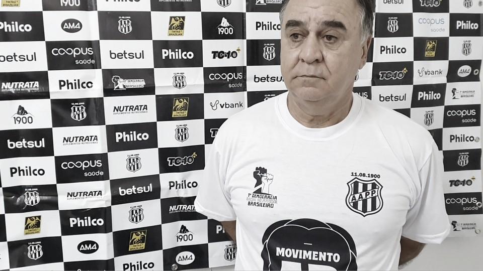Marcelo Oliveira após CSA 2 a 1 Ponte Preta (Foto: Divulgação / AA Ponte Preta)